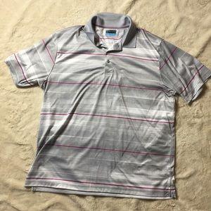 PGA TOUR Striped Polo Golf Shirt | XXL